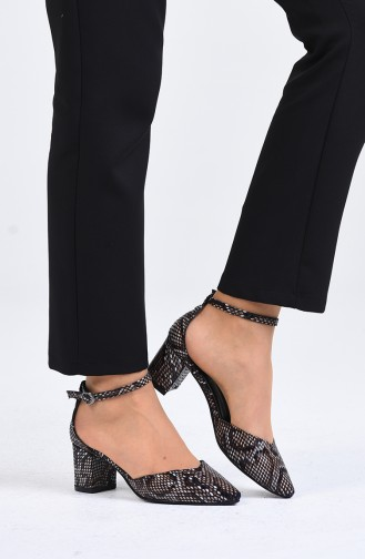 Chaussures a Talons Brun Foncé 0612-01