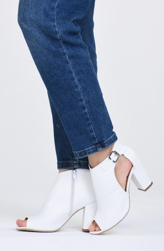 Chaussures a Talons Blanc 1302-05