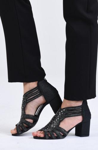 Chaussures a Talons Vert 9055-04