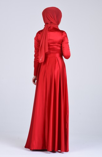 Habillé Hijab Rouge 1016-01