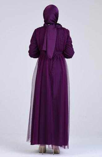 Habillé Hijab Pourpre 7663-01