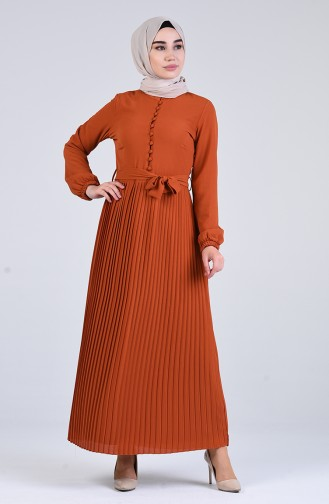 Robe Hijab Couleur brique 7624-02
