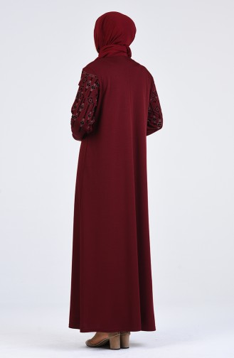 Robe Hijab Bordeaux 4896-04