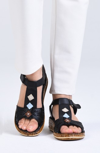 Black Summer Sandals 0207-01