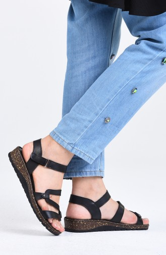 Sandales D`été Noir 0402-03