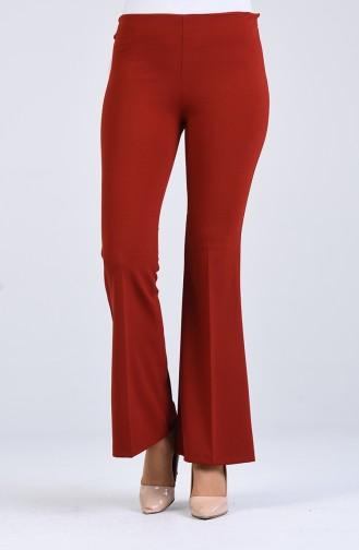 Straight Leg Pants with Elastic Waist 4088-09 Damson 4086-12