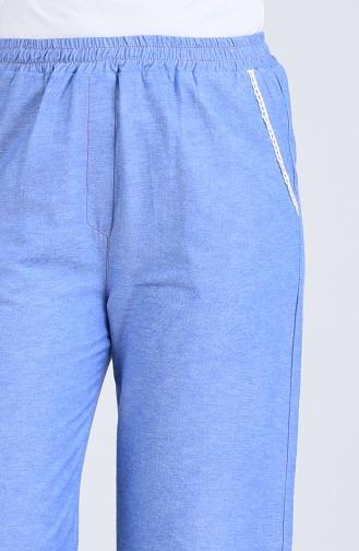 Bol Paça Kot Pantolon 1503-02 Mavi