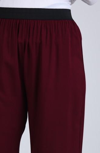 Pantalon Bordeaux Foncé 6434-07