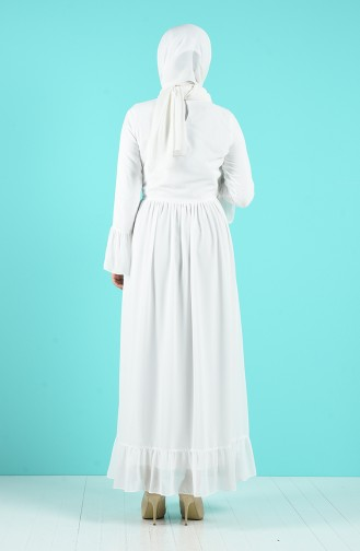 Robe Hijab Blanc 7620-02