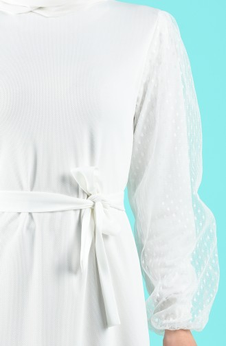 Weiß Hijap Kleider 2058-04