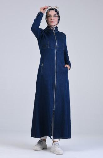 Navy Blue Abaya 9291-01