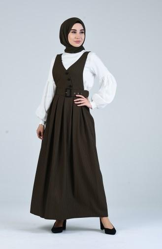 Kemerli Jile Elbise 2002-03 Koyu Haki