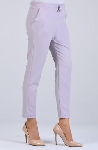 Straight Leg Pants with Elastic Waist 4088-09 Damson 4088-13