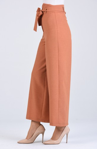 Belted wide-leg Trousers 0510-05 Dark Salmon 0510-05