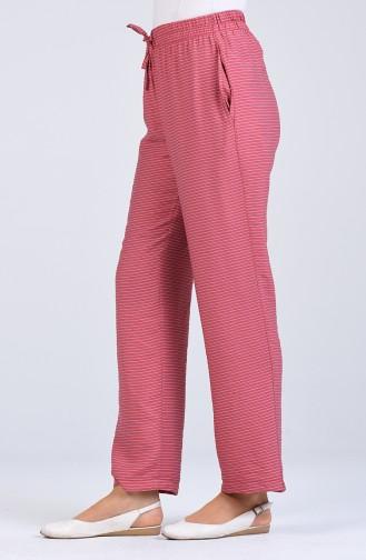 Aerobin Fabric Striped Trousers 0161-02 Dry Rose 0161-02