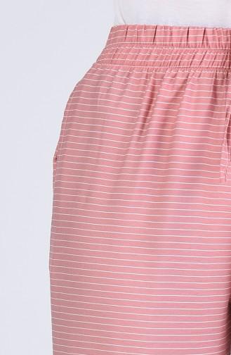 Aerobin Fabric Striped Trousers 0161-04 Powder 0161-04