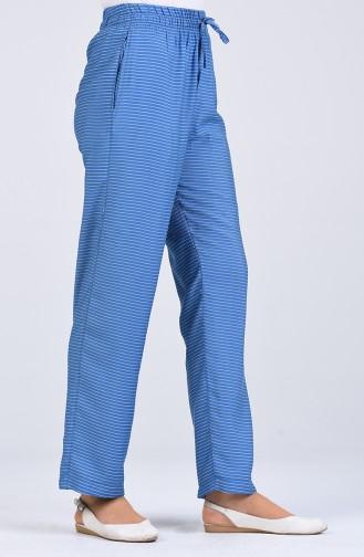 Aerobin Fabric Striped Trousers 0161-07 Blue 0161-07