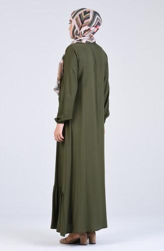 Gathered Dress 1207-08 Khaki 1207-08