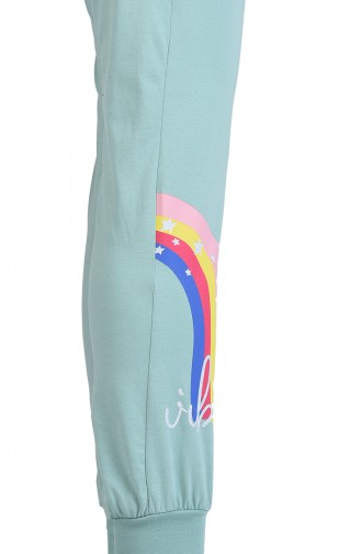 Kız Pijama Takım 14001 Somon