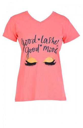 Kız Pijama Takım 14006 Açık Mercan