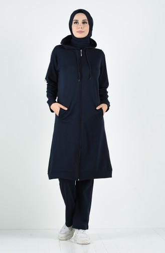 Navy Blue Sweatsuit 20020B-02