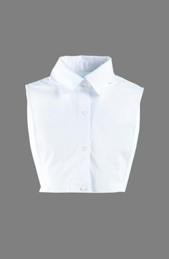 Gömlek Yaka 7089-01 Beyaz