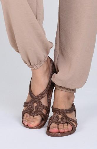 Sandales D`été Couleur Brun 02-04