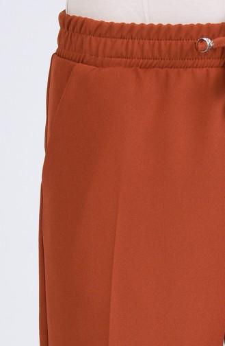 Pantalon Couleur brique 4088A-01