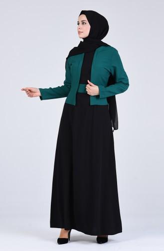Viscose Jacket Dress 6469-04 Emerald Green 6469-04