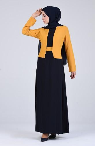 Senf Hijap Kleider 6469-08