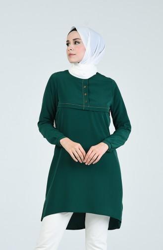 Smaragdgrün Tunikas 0124-07
