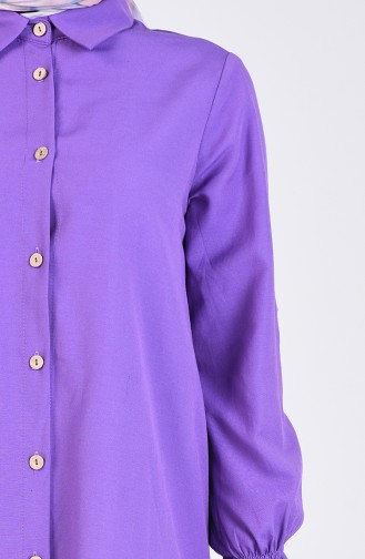 Purple Overhemdblouse 1438-05
