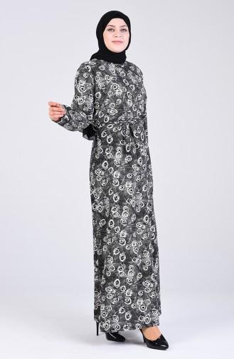Black İslamitische Jurk 5708R-01