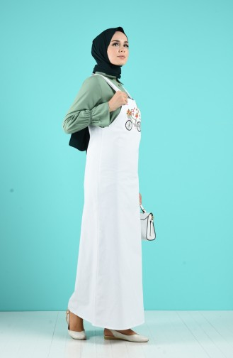Robe Hijab Blanc 5023-05