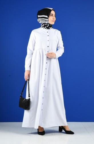 White İslamitische Jurk 5037-17