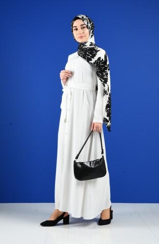 White İslamitische Jurk 60131-03