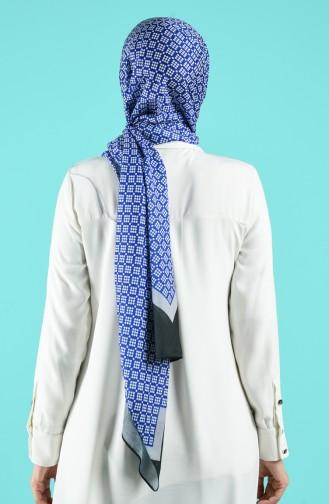 Saks-Blau Schal 13172-10