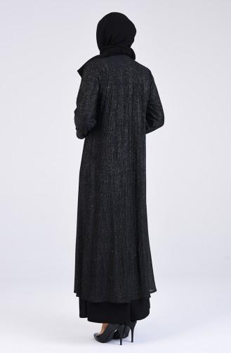 Schwarz Hijab-Abendkleider 4254-03