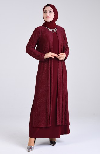 Habillé Hijab Bordeaux 4256-02