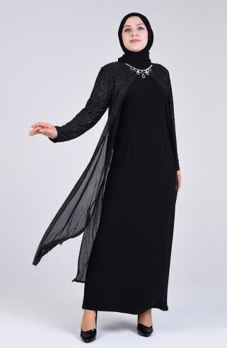 Schwarz Hijab-Abendkleider 4256-03