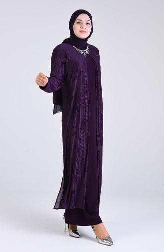 Habillé Hijab Pourpre 4256-04