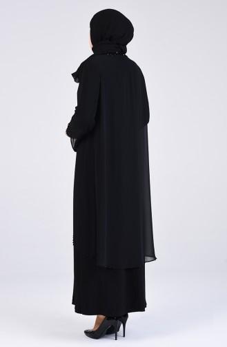 Habillé Hijab Noir 3154-01
