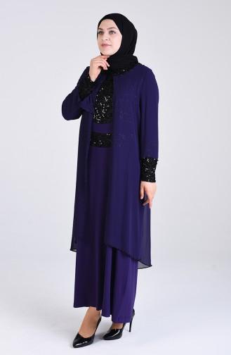 Habillé Hijab Pourpre 3154-02