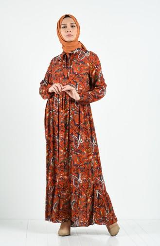 Robe Hijab Cuivre 0085-01