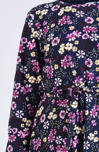 Robe Hijab Bleu Marine 5708S-04