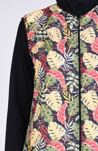 Khaki Swimsuit Hijab 1001-01