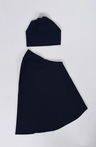 Navy Blue Swimsuit Hijab 1002-01