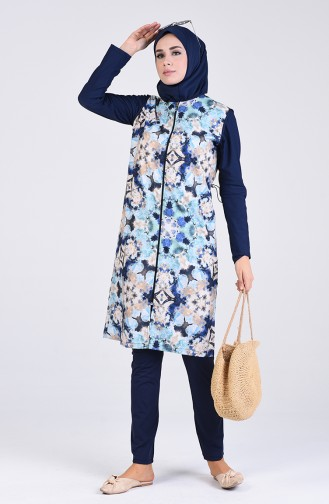 Navy Blue Swimsuit Hijab 1003-01