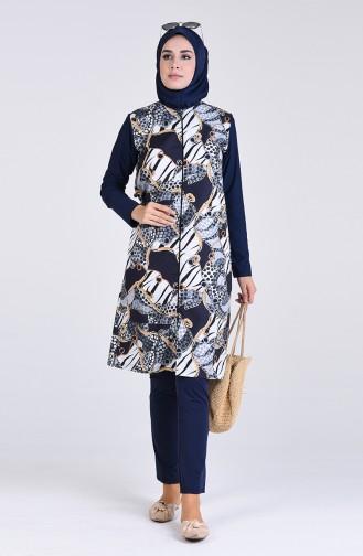 Black Swimsuit Hijab 1005-01