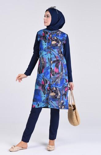 Navy Blue Swimsuit Hijab 1006-01